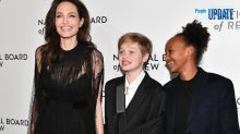 Angelina Jolie Steps Out With Injured Daughter Shiloh and Zahara at NYC Awards Gala