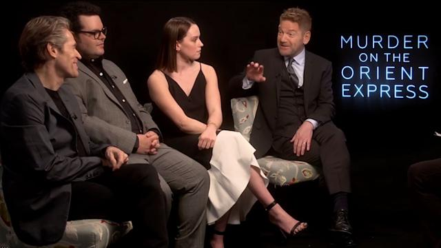 Murder On The Orient Express interview: Kenneth Branagh, Daisy Ridley, Josh Gad, Willem Dafoe uncut