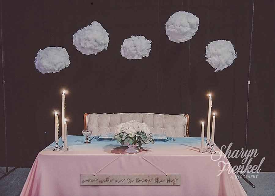 <p><i>The mood was whimsical, light, and dreamy for this Philadelphia wedding (Photo: Sharyn Frenkel Photography via The Big Fake Wedding)</i></p>