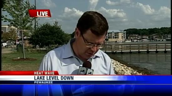 Water levels, swimmers down in Lake Country