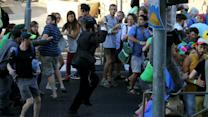 Gay Pride participants struggle to understand stabbing