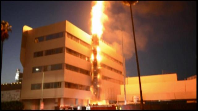 Columbia Square complex in Hollywood damaged in fire