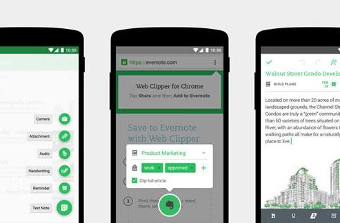 Evernote's redesigned Android app adapts to your note-taking style