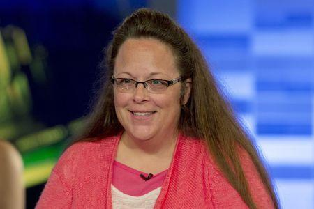 Kentucky county clerk Davis speaks during an interview on Fox News Channel's 'The Kelly File' in New York