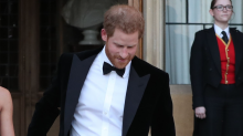 Prince Harry makes 'post-honeymoon' appearance in a smart dinner tux