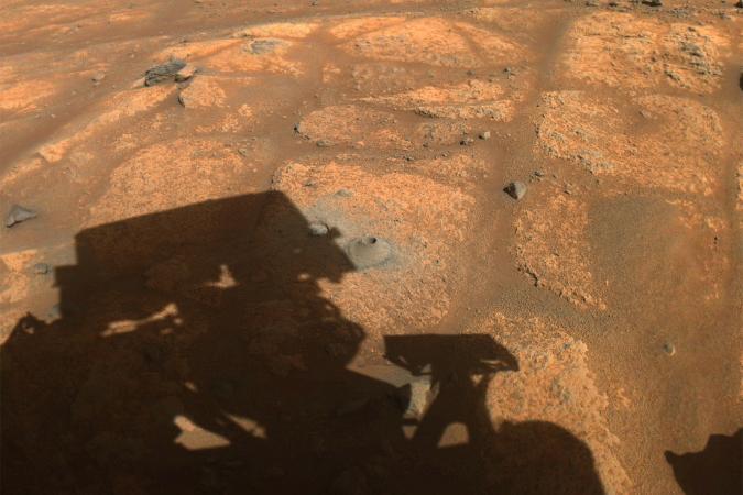 NASA Perseverance Mars rover drills a sample hole