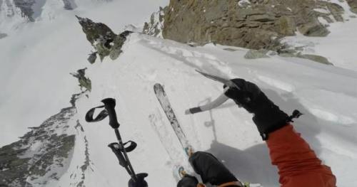 Ski - Vivian Bruchez en caméra embarquée aux Aiguilles rouges du Dolent