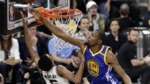 Kevin Durant added to the Spurs' misery with a windmill double-block