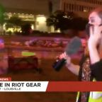 Police officers at Louisville protest fired 'pepper bullets' at a CNN-affiliate news crew during a live TV broadcast