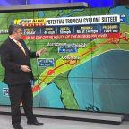 Path of potential tropical storm crosses North Carolina