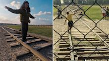 Auschwitz pleads with tourists to stop striking pose in popular spot