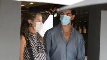 Luana Piovani apresenta o novo namorado aos pais em almoço em São Paulo; veja fotos