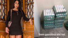 Em meio à greve de caminhoneiros, Gracyanne Barbosa faz estoque de ovos