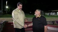 Embattled Venezuelan President Maduro Meets With Soccer Legend Maradona