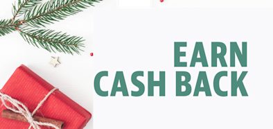 Earn cash back on your holiday shopping!