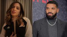 Após Rock in Rio, Drake vai a festa promovida por Anitta e segue cantora no Instagram
