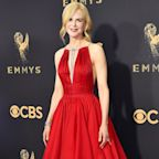 Nicole Kidman Wears a Gorgeous Red Dress on the Emmys Red Carpet