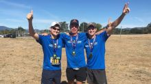 Man overcomes paralysis to run half-marathon with his surgeon and the driver who hit him