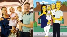 Michel Teló, Thais Fersoza e os filhos viram personagens de 'Os Simpsons'