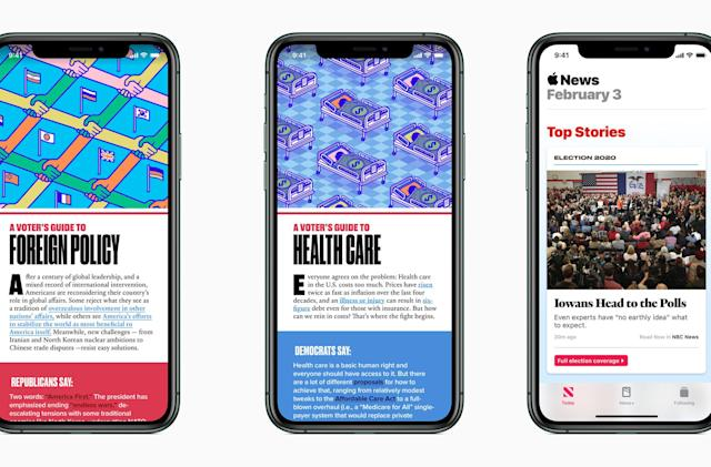 Apple News'2020 presidential election coverage includes livestreams