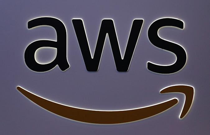 The logo for Amazon Web Services (AWS) is seen at the SIBOS banking and financial conference in Toronto, Ontario, Canada October 19, 2017. Picture taken October 19, 2017. REUTERS/Chris Helgren