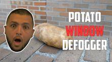 Eliminate foggy windows using a potato?