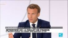 """Interview du 14 juillet : Emmanuel Macron change """"de chemin"""" mais maintient le cap"""