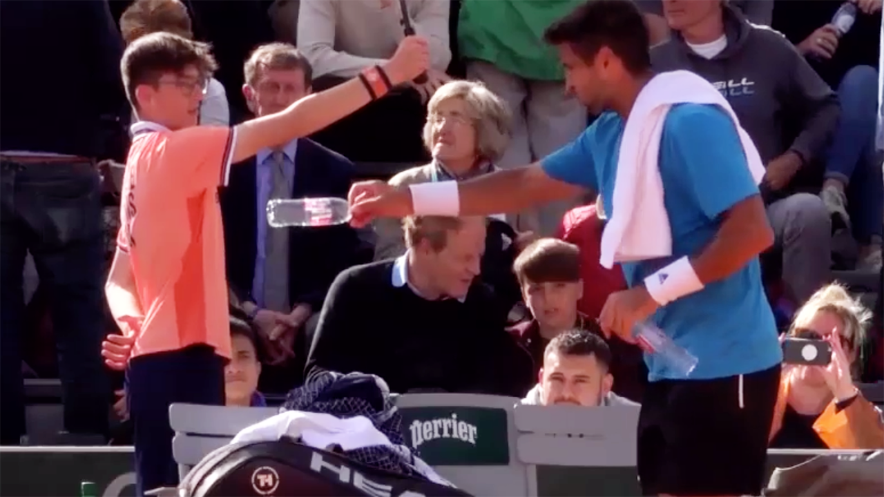 'Give him a medal': Epic moment ballboy puts French Open star in his place