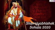Shivrajyabhishek Din 2020 Wishes in Marathi & HD Images: WhatsApp Stickers, Facebook Banners, Status, GIF Greetings to Mark the Coronation Ceremony of Chhatrapati Shivaji Maharaj