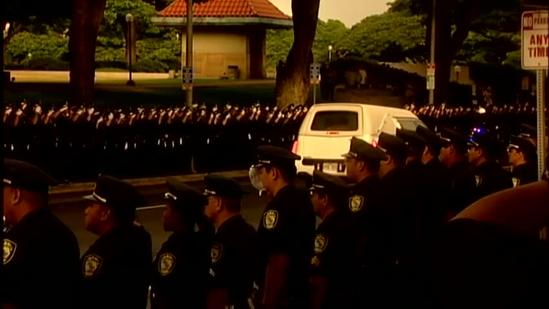 Memorial services held for Honolulu police officer Chad Morimoto