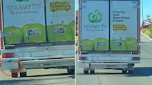 Woolworths 'disappointed' at delivery truck's unusual feature