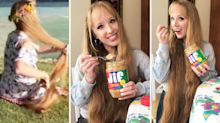 'Real life Rapunzel' says incredibly long hair is down to daily peanut butter habit