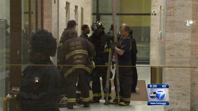 9 people rescued from elevator at Cook County Administration Building at 69 W. Washington