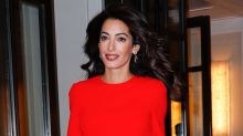 Amal Clooney Is a Gorgeous Lady in Red Ahead of U.N. Event