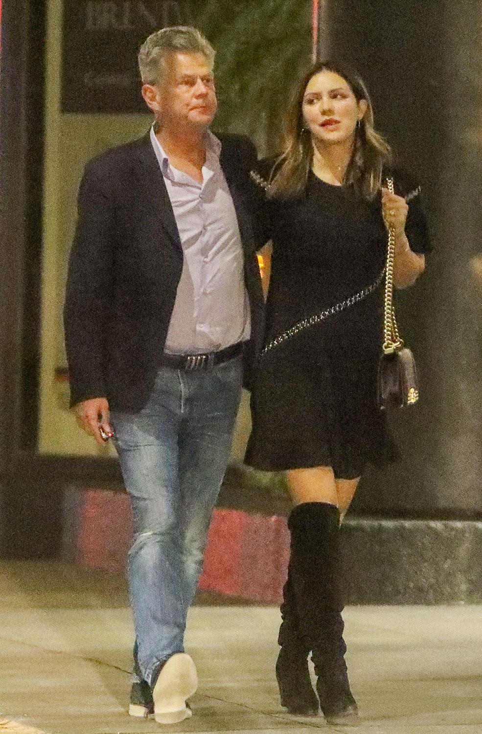David Foster And Katharine Mcphee Stroll Arm In Arm As Source Says They Re Dear Friends Nothing More