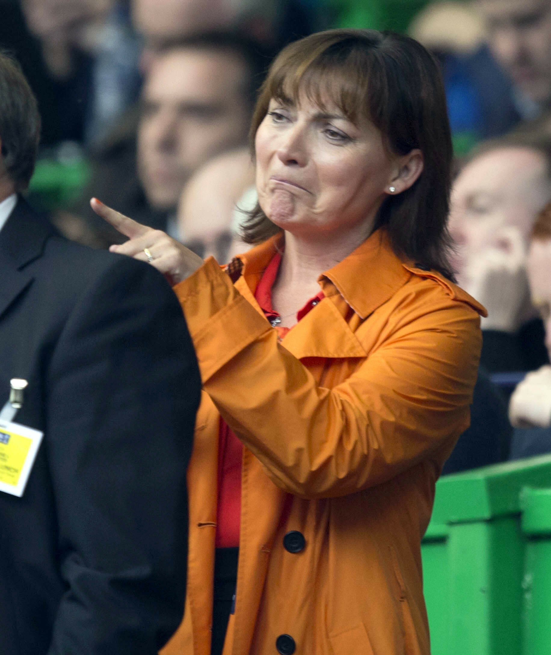 Lorraine Kelly in the stands
