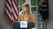 Melania Trump denies plagiarizing Obama-era document in explosive statement