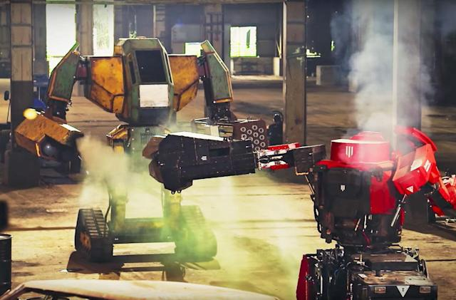 This week's 'live' giant robot battle was fake