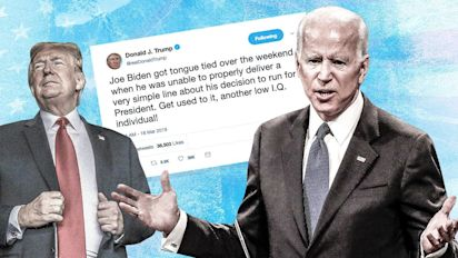 Trump adds Joe Biden to his 'low IQ' list