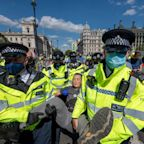 Police put on a 'show of strength' against Extinction Rebellion as fortnight of disruption begins