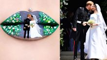Someone Painted the Royal Wedding on Their Lips