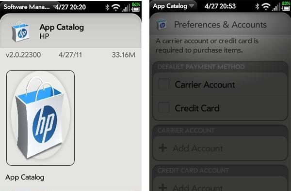 HP updates webOS App Catalog, brings carrier billing, promo codes, and (surprise!) a new icon