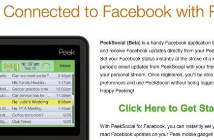 Peek gets a Facebook app, sort of