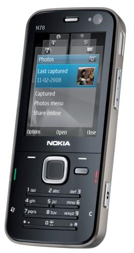 The Nokia N78, in European and North American flavors