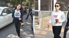 Sara Ali Khan Arrives With Gifts And Goodies For Dad Saif Ali Khan And Kareena Kapoor Khan's Newborn
