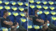 Cristiano Ronaldo leva bronca por ver Portugal x Croácia sem máscara