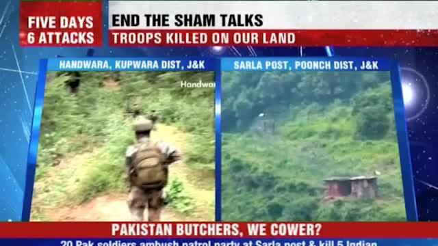 Five Indian soldiers butchered by Pak
