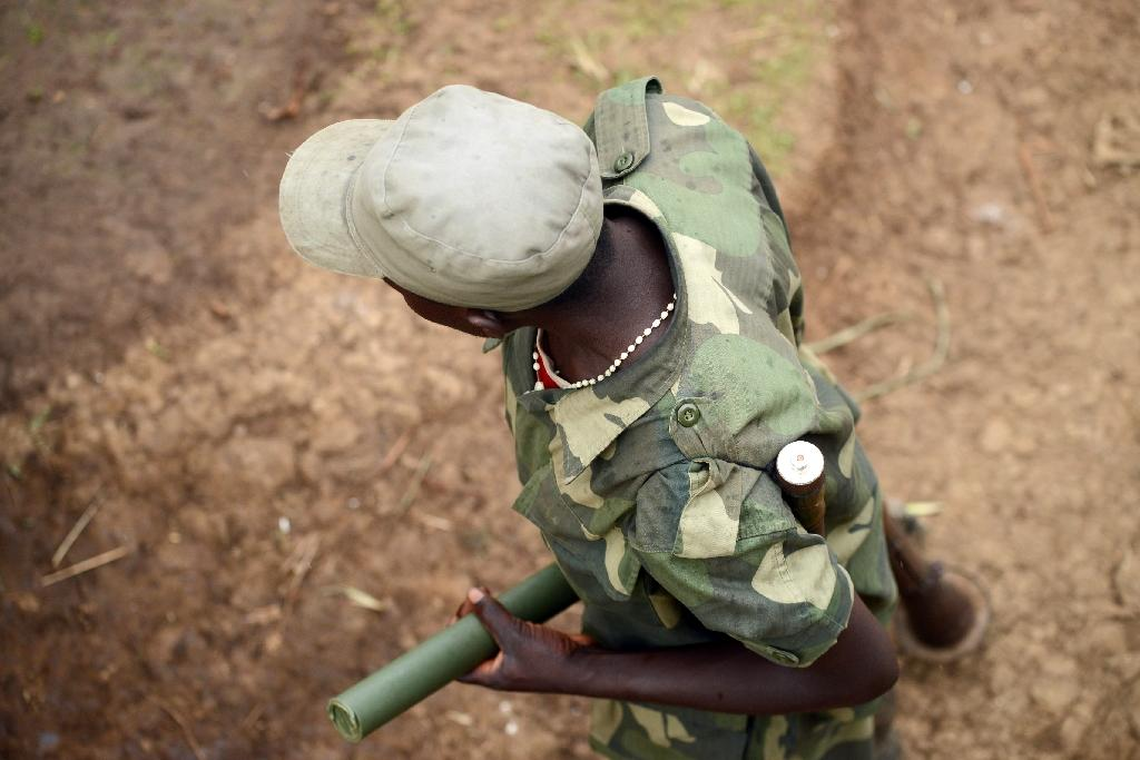 Fighting between the Alliance of Patriots for a Free and Sovereign Congo, one of whose members is pictured here in 2013, and the Mai Mai Nduma Defence of Congo resulted in fifteen deaths