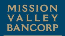 Mission Valley Bancorp Reports Record Third Quarter Earnings