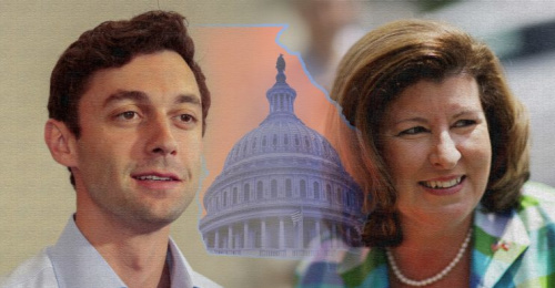 Democratic candidate Jon Ossoff and Republican candidate Karen Handel (Photo illustration: Yahoo News; photos: Chris Aluka Berry/Reuters, David Goldman/AP, AP)
